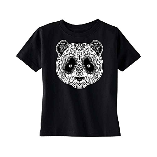 Sugar Skull Panda TODDLER T-shirt Cross Day Of Dead Dia De Los Muertos Kids Black 5T