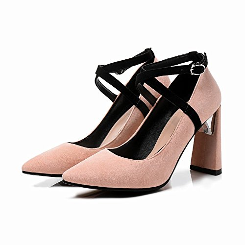 4552c69a454b Mee Shoes Damen High Heels Spitz Schnalle Pumps - associate-degree.de