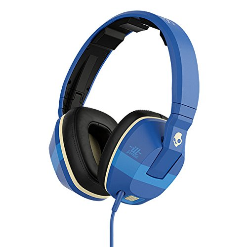 Skullcandy Crusher Headphones with Built-in Amplifier and Mic, ILL Famed Royal and Cream