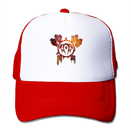 LQYG Horde Hip-Hop Cotton Hats Sun Hat For Outdoor Sports Red