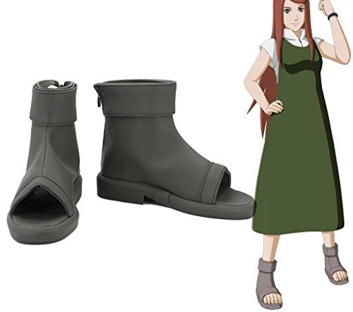 Naruto Anime Uzumaki Kushina Cosplay Zapatos Botas Por Encargo