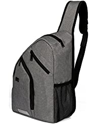 Shoulder Backpack Chest Crossbody Bags Large Travel Sling Pack for Men