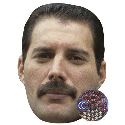 Freddie Mercury - Máscara de Celebridad, Cara de Tarjeta y Máscara de Disfraces: Amazon.es: Hogar