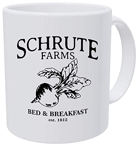 Grafeeks Schrute Farms, Bed And Breakfast Est. 1992, Office 11 Ounces Funny White Coffee Mug (Best Office Coffee Mug)