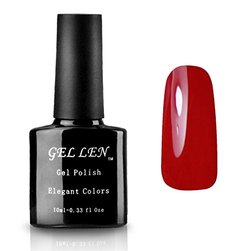 10 Piece 1 Light (Gellen Soak Off UV Gel Nail Polish 300 Colors Available 10ml 1 Piece Color #43 Bordeaux)