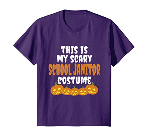 Kids My scary School Janitor costume funny Halloween t shirt 8 (Funny Janitor Costumes)