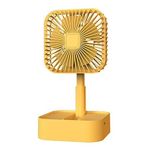 Nukcc Usb Fan,USB Fan Portable Fan Mini Fan Desk Fan Charging Fan with Base Folding Fan Three-speed Fan
