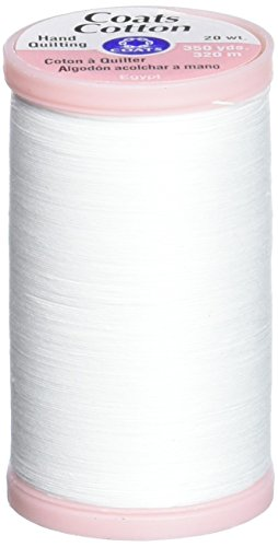 COATS & CLARK S980-0100 Hand Quilting Cotton Thread, 350-Yard, White ()
