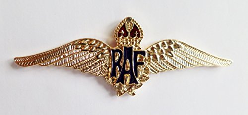 RAF Royal Air Force Sweetheart Wings Gilt Pin Badge - MOD