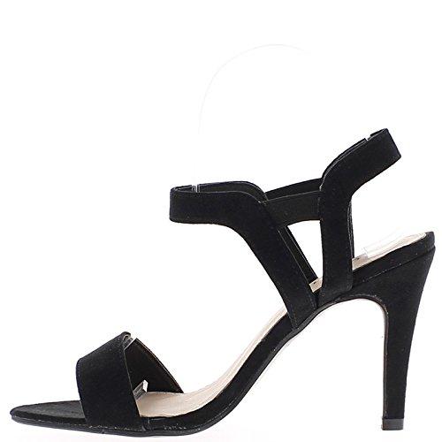 Sandales noires à talon fins de 10,5cm