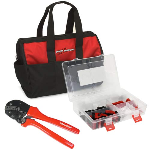Image of Home Improvements Powerwerx 150 Pieces Anderson Powerpole Connector Kit, with Crimping Tool and Nylon Storage Bag