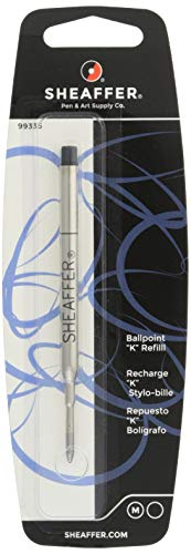 (Sheaffer K Ballpoint Refill, Black Ink, Medium Point, Single Blister Card (99335))