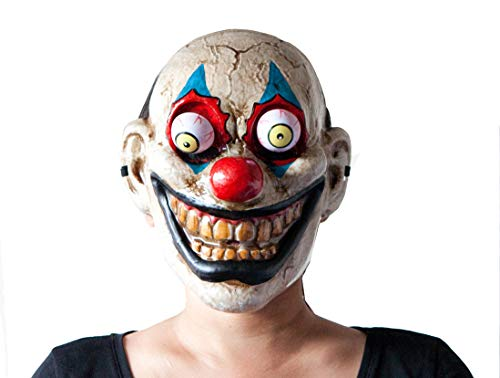 Hit Delights Scary Clown Mask for Adults. Fits Men, Women. Very Creepy Evil Killer Clown! Great for Costumes and Halloween.