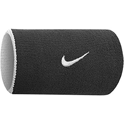 Nike Dri-Fit Home and Away Doublewide Wristbands - Black/Base Grey