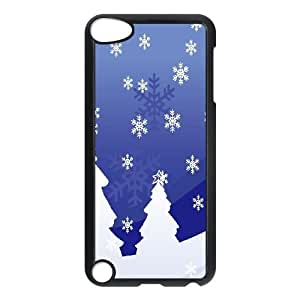 iPod Touch 5 Case Black Snowy Holiday GY9084216