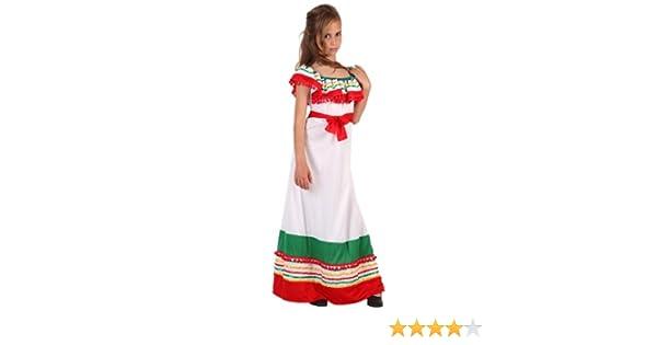 Atosa-6147 Disfraz Mejicana, color blanco, 5 a 6 años (6147 ...