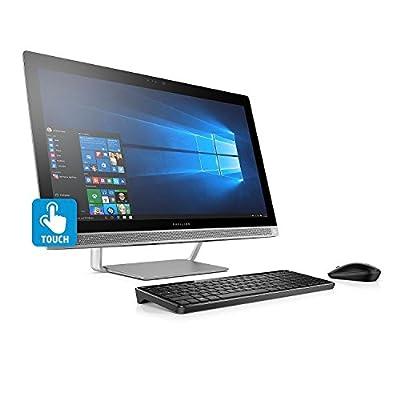 "Premium HP Pavilion FHD IPS 24"" Touchscreen All-in-One Desktop, Intel i7-7700T 3.8 GHz, 8GB DDR4 RAM, 1TB 7200RPM HDD, Dedicated Graphics 2GB GDDR5, DVD, BT, 802.11AC, Wireless Combo, B&O PLAY-Win10"