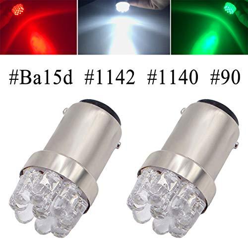 Shangyuan 1004 1142 90 Ba15d Marine LED Bulb for Navigation Light Stern Light Courtesy Light Running Light 12 Volt (Pack of 2)