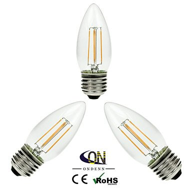 RTS 3 pieza ondenn E26/E27 4 COB 400 lm cálida blanco A60 (A19) Edison Vintage LED Bombillas AC 220 - 240/AC 110 - 130 V: Amazon.es: Iluminación