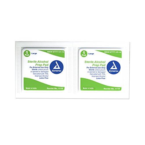 Dynarex 1116 Dynarex Sterile Alcohol Prep Pad - 1,000 ct - (Dynarex Alcohol Prep Pads)