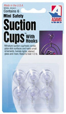 Adams Manuf. 7000-75-3040 6 Count .75 in. Clear Suction Cup