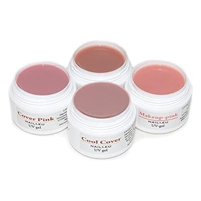 4x camuflaje Gel Set: Make Up, Makeup Rosa, Cover Rosa, Cool Cover