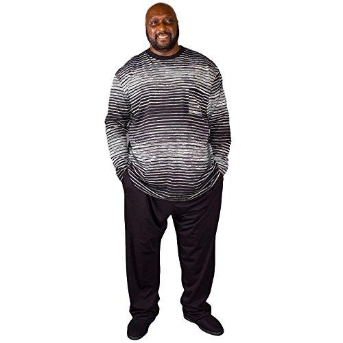 Pijama de tallas grandes, marca Espionage, para hombre con diseño a rayas, 2XL, 3XL, 4XL, 5XL, 6XL, 7XL, 8XL: Amazon.es: Ropa y accesorios