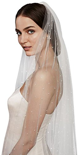 Scattered Crystal Cathedral Veil Style WPD20237, Champagne by David's Bridal