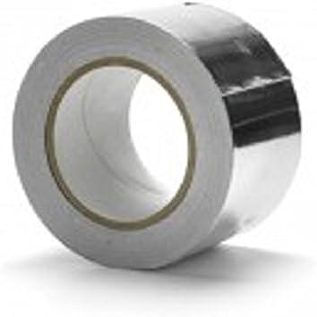 Cinta aislante de aluminio con revestimiento de plata 48mmx45m Roll Pack 2 rollos: Amazon.es: Bricolaje y herramientas