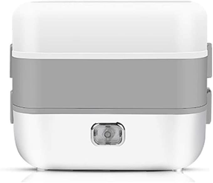Hxueq-baowenhe Thermal lunch box Electrical Heating Lunch Box Rice Cooker Portable Food Warmer Multifunction Food Heater Heat Meals Multi-layer Separation Obliterable Design (Color : White B)