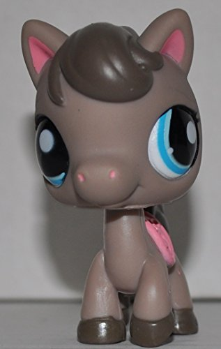 Horse #1776 (Mocha, Blue Eyes) - Littlest Pet Shop (Retired) Collector Toy - LPS Collectible Replacement Single Figure - Loose (OOP Out of Package & Print)