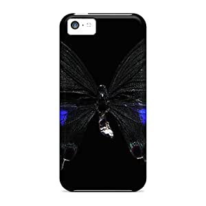Case Cover Butterfly Black/ Fashionable Case For Iphone 5c