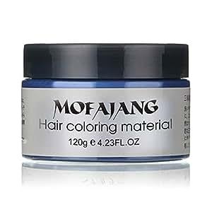 Unisex DIY Hair Color Wax Mud Dye Cream Temporary Modeling 7 Colors Mofajang Blue