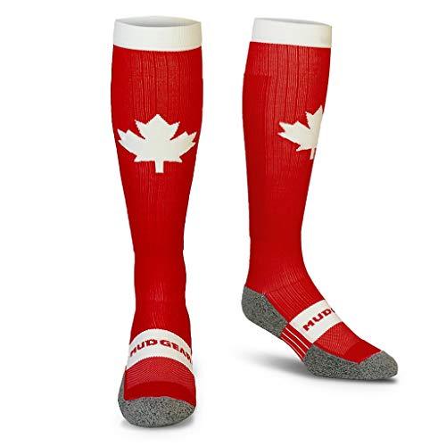 MudGear Canada Mapel Leaf Compression Socks - Men's and Women's (1 Pair)