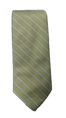 Robert Talbott Olive with Multi Color Stripes Best of Class Extra Long Tie ()