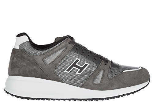 Hogan Herrenschuhe Herren Wildleder Sneakers Schuhe interactive n20 Grau