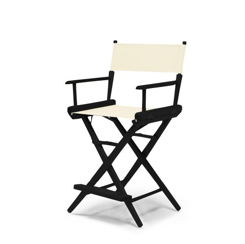 Telescope Casual World Famous Counter Height Director Chair, Natural with Black Frame by Telescope Casual