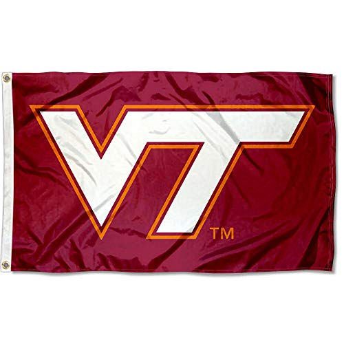 (College Flags and Banners Co. Virginia Tech Hokies Maroon VT Flag)