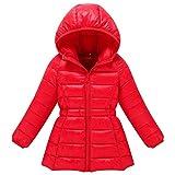 M&A Girls Long Puffer Jacket Outerwear Lightweight Hooded Winter Coat