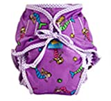 Kushies Reusable Cloth Swim Diaper Bottoms for Boys or Girls (Large, Mermaid)