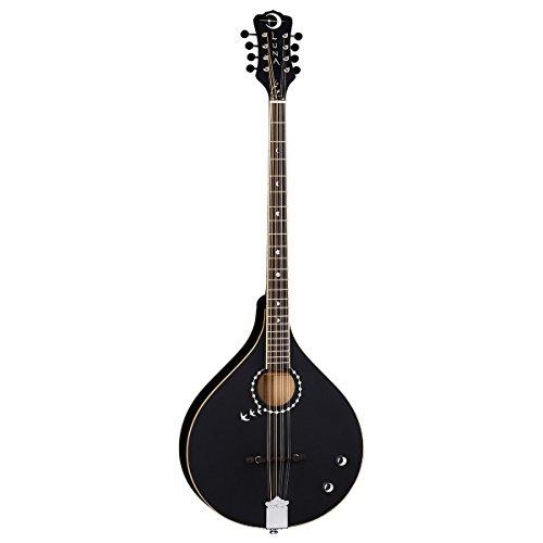 Luna Guitars Moonbird Series 8-String Acoustic-Electric Bouzouki - Satin Black by Luna Guitars