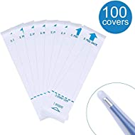 Digital Thermometer Probe Covers - Oral Rectal Thermometer Covers - Disposable Digital Thermometer Cover - 100 Covers(3.74 x1.02 in)