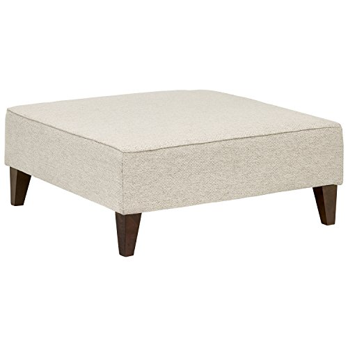 Rivet Modern Oversized Upholstered Square Ottoman, 38