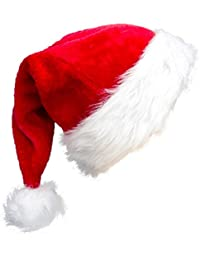 High-end Santa Hat,Christmas Hat For Adults Decoration Velvet Plush Super Soft Thickening