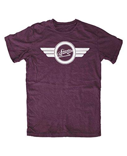 SIMSON altes Logo T-Shirt Burgundy