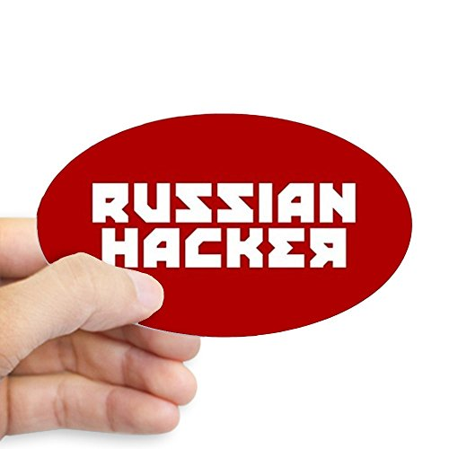Halloween Costumes Euro (CafePress - Russian Hacker - Oval Bumper Sticker, Euro Oval Car Decal)