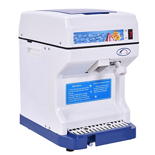 Costzon 440lbs Electric Ice Shaver Machine, 250W Snow Cone ...
