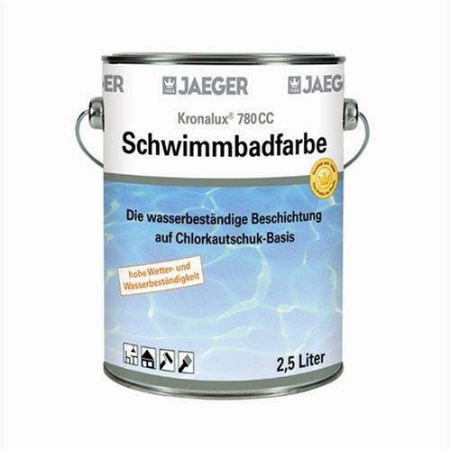 Jaeger Schwimmbadfarbe 2,5 Liter Farbe: weiss (19,16 Euro pro Liter)
