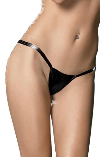 Amour Women's Metallic Micro Shorts Panty Thong