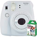instax mini 9 Makine+10'lu Film+Askı (BEYAZ)